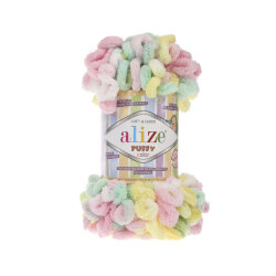 Пряжа Alize Puffy color цвет 5862
