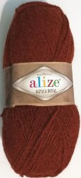 Пряжа Alize Alpaca Royal цвет терракот 588